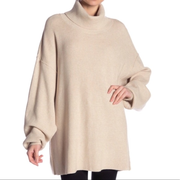 Free People Sweaters - NWT Free People Softly Structured Oatmeal Tunic M